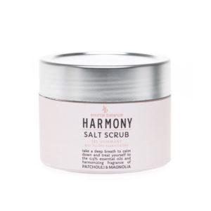 Sali da bagno scrub – armonia – oli essenziali fragranza patchouli e magnolia