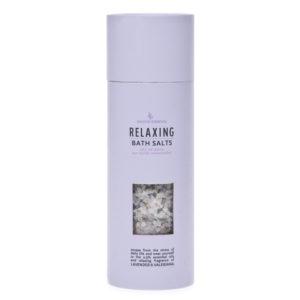 Bath salt crystal – flacon – 250 gr – relaxing with essential oils fragrance of lavender e valeriana