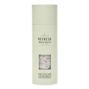 Cristalli di sali da bagno – flacone 250 gr – rinfrescante con oli essenziali di eucalipto e finocchio