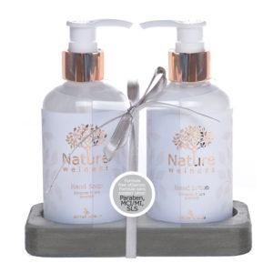 Cofanetto bagno benessere – Natura – Sapone mani, crema mani