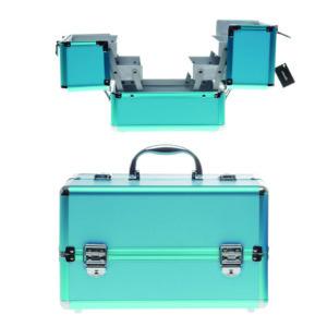 Aluminium beauty case – blue 22x16x18 cm