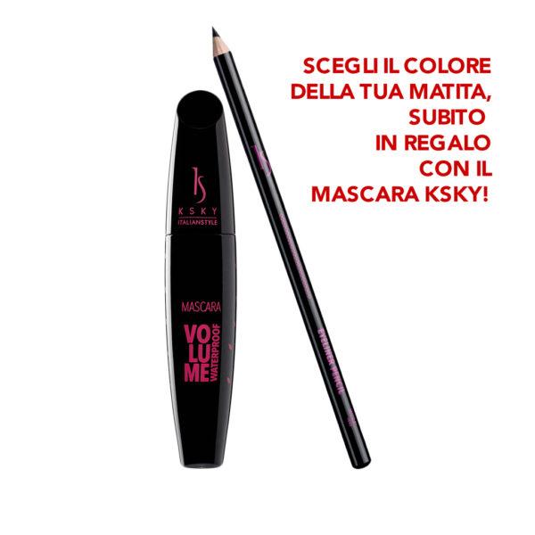 Mascara Volume Waterproof + Eyeliner Pencil