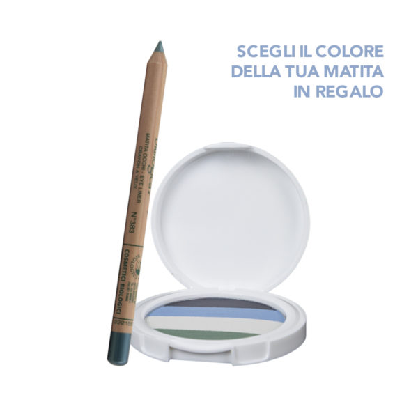 Palette Quartetto Ombretti blu & verde Lady Lya Bio + Matita occhi