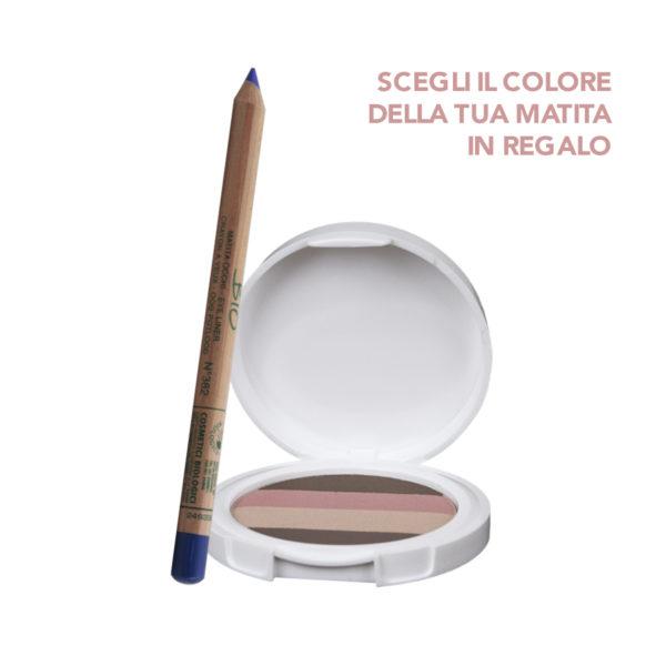 Palette Quartetto Ombretti natural Lady Lya Bio + Matita occhi