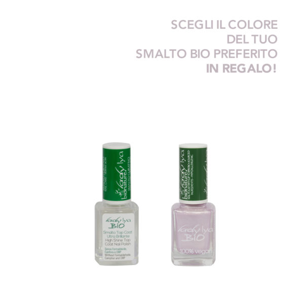 Smalto curativo bio top coat + Smalto colorato