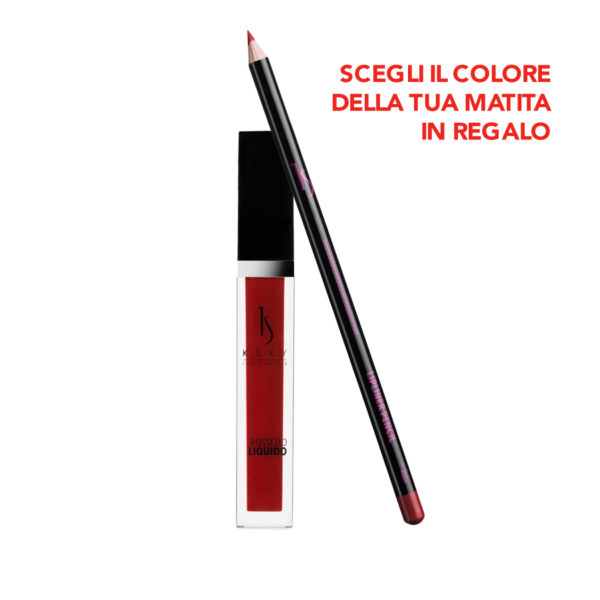 Rossetto Liquido Red Kisses + Matita Labbra