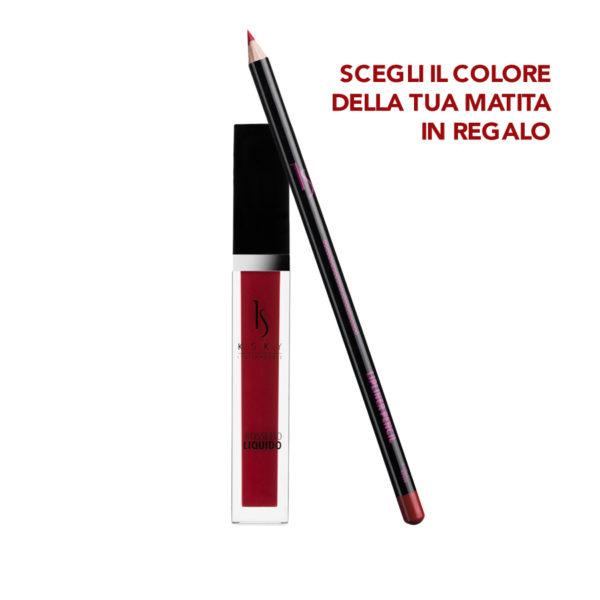 Rossetto Liquido Red Sensation + Matita Labbra