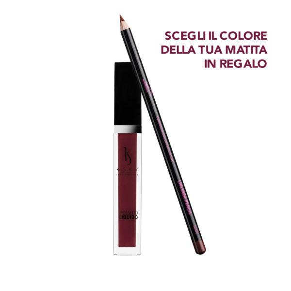 Rossetto Liquido Black Rose + Matita labbra